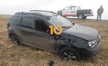 Ruta 205: Dos personas hospitalizadas a raíz de un vuelco