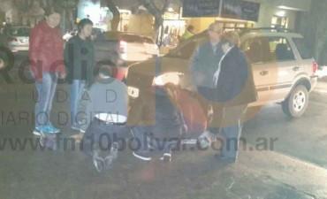Impacto en Las Heras y Mitre; una mujer hospitalizada