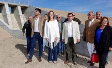 En Azul, Bertellys y Vidal inauguraron la Presa La Isidora