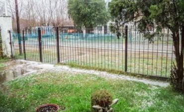 PARTIDO DE AZUL: Intensa granizada en Cacharí