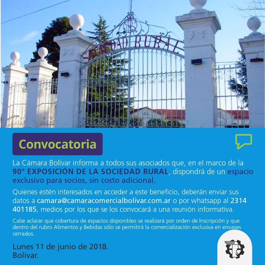 Cámara Comercial: Convocatoria para la 90° Exposición Rural