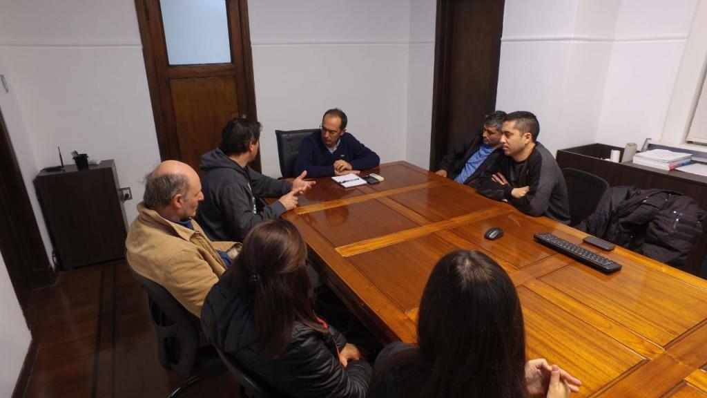El intendente Marcos Pisano recibió a los empleados de Plásticos Bolívar