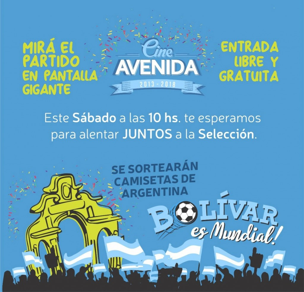 Se podrán ver en el cine los partidos que dispute Argentina