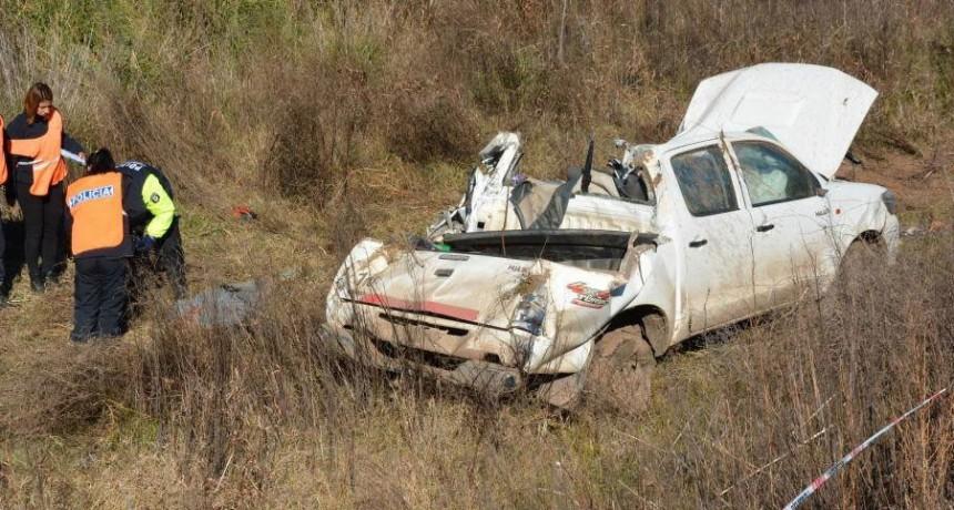 Estación De Policía Comunal Pehuajó: Accidente fatal en el acceso a Mones Cazón