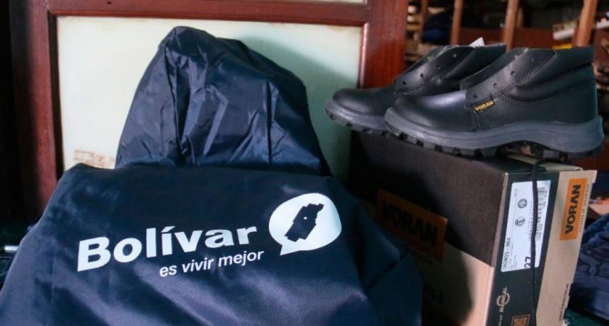 Pisano entregó indumentaria de trabajo a empleados municipales