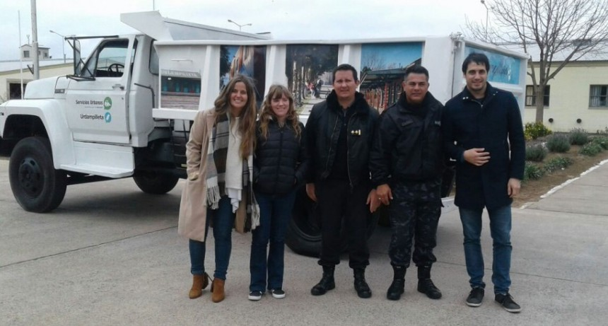 Repararon un camión municipal en los  talleres de la Unidad Penal Nº17 de Urdampilleta