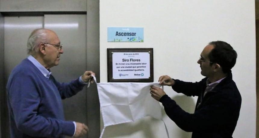 Pisano dejó inaugurado el nuevo ascensor del palacio municipal