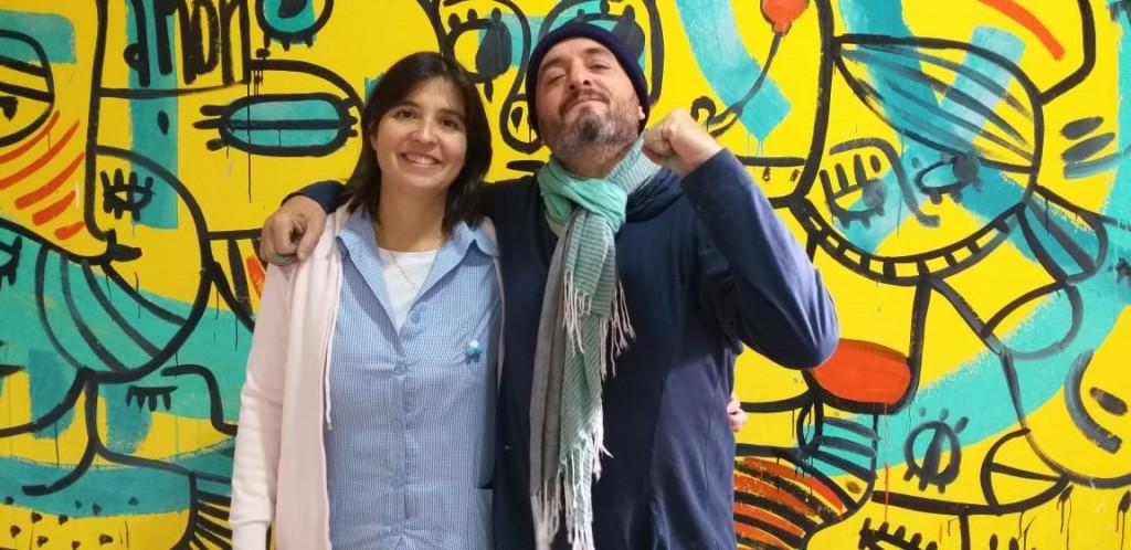 Martin Villalba llegó con su arte al Jardín N.º 909