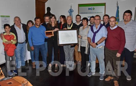 El profesor bolivarense Carlos Escobar fue declarado ciudadano ilustre de Laprida