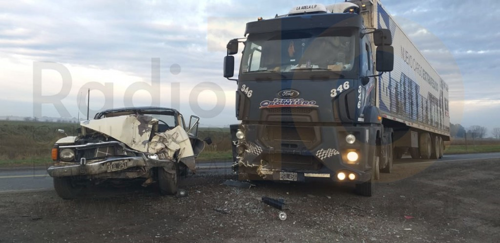 Impactante accidente en Ruta 205 km 309; un automovilista fue hospitalizado