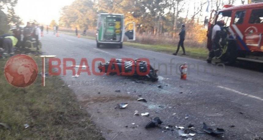 Bragado: Violento accidente fatal en ruta 46