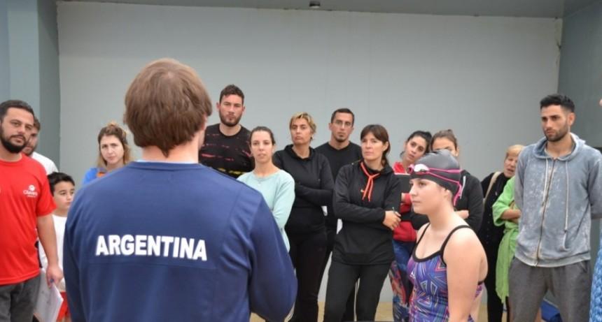 Natación Adaptada en el Natatorio Municipal Lamarque