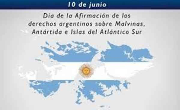 10 de Junio: 'Día de la Afirmación de los Derechos Argentinos sobre las Malvinas, islas y sector antártico'