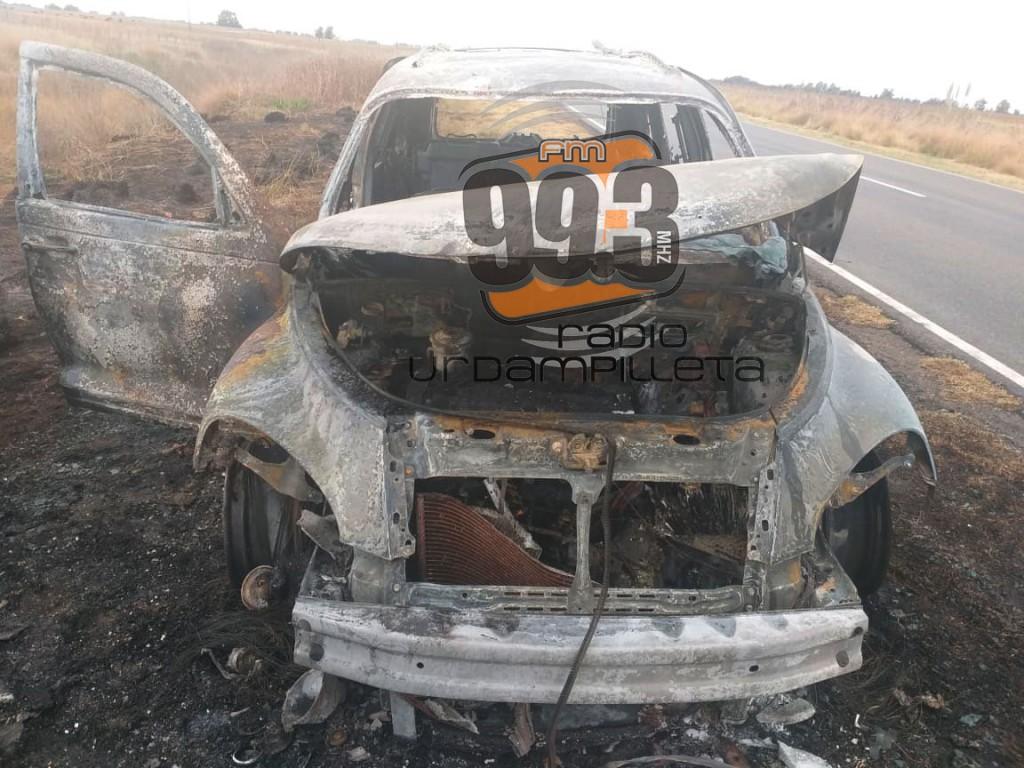 Ruta 65: Se incendió un vehículo en el kilómetro 299