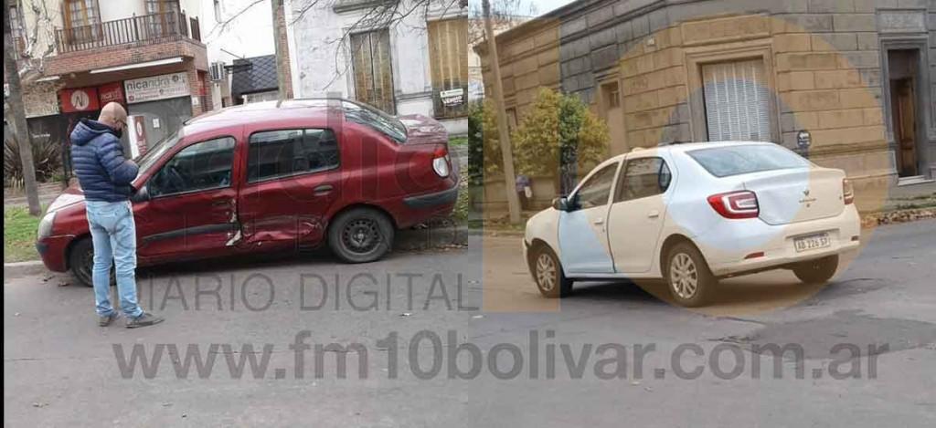 Impacto entre dos automóviles en el centro de la ciudad; Sin heridos