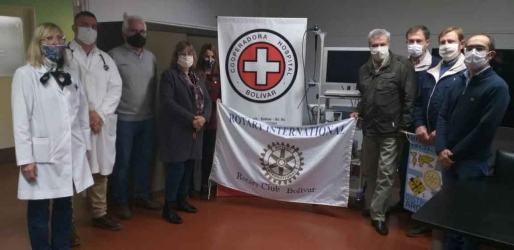 Con la colaboración del Rotary Club y la Cooperadora del Hospital se adquirió un videobroncoscopio