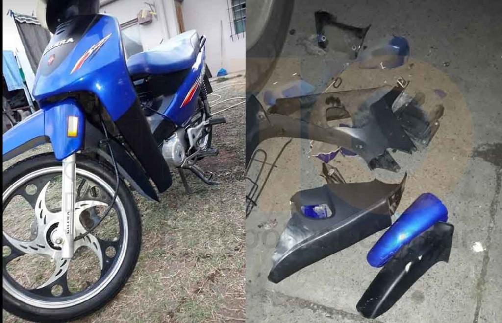 Aparecen partes de una moto robada