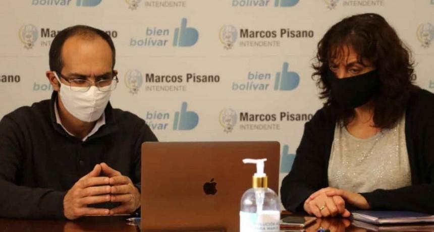 Pisano participó de una vidoconferencia con el gobernador Kicillof