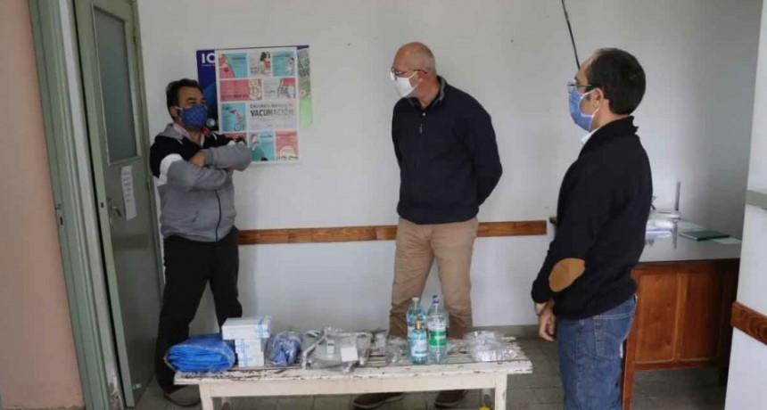Pisano continúa ajustando su agenda diaria a la emergencia sanitaria, relevando la situación en cada localidad del Partido de Bolívar