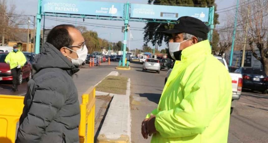 100 días: Pisano recorrió los puestos sanitarios de los accesos a la ciudad