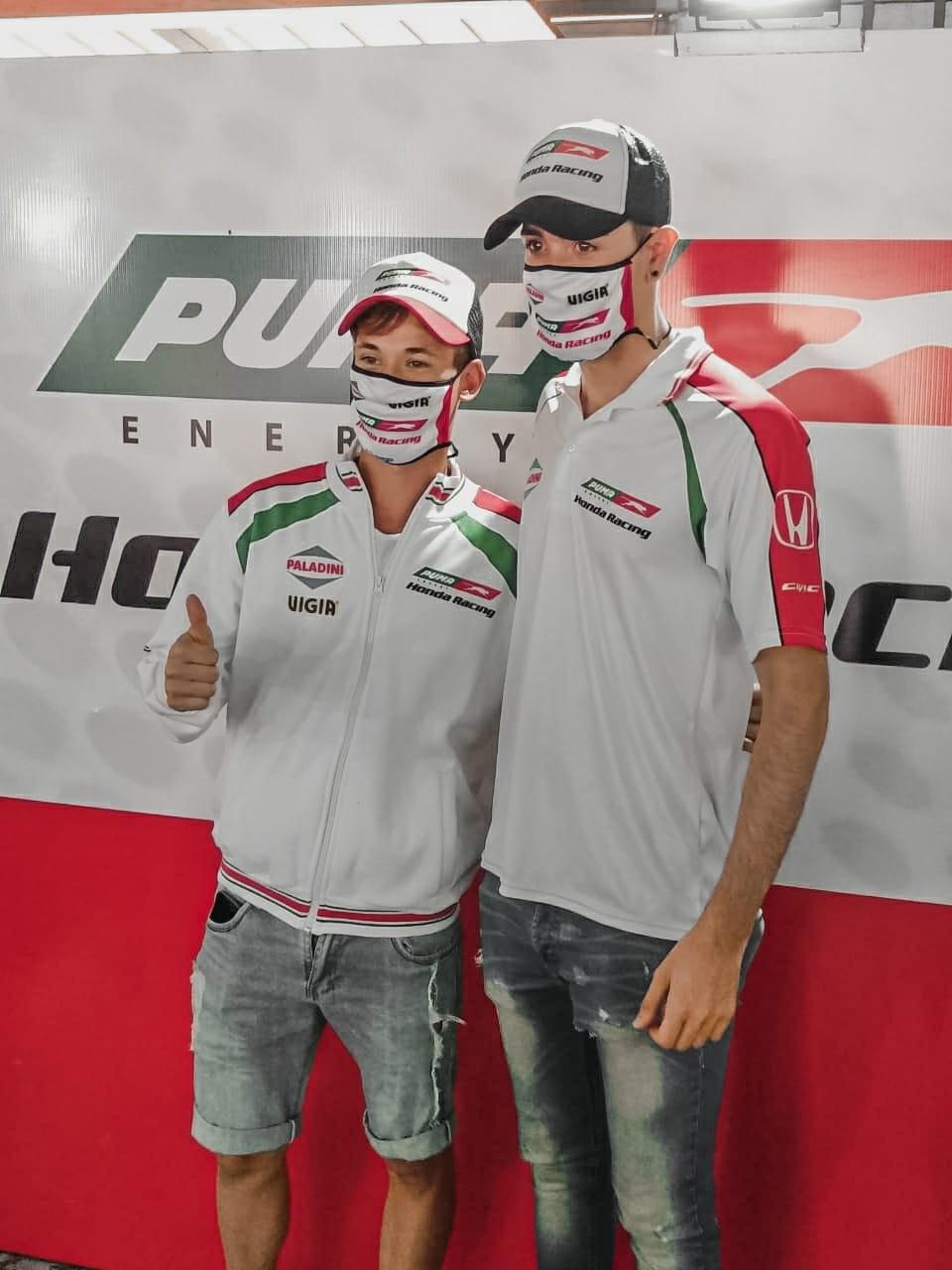 """Julian Baptista:  """"Contento porque me pude incorporar este año en el equipo Honda"""""""