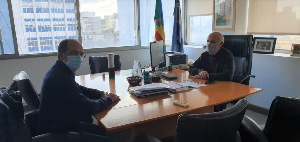 Marcos Pisano gestionó el inicio de las jubilaciones municipales a través del sistema digital, se reunió con Eduardo Santín