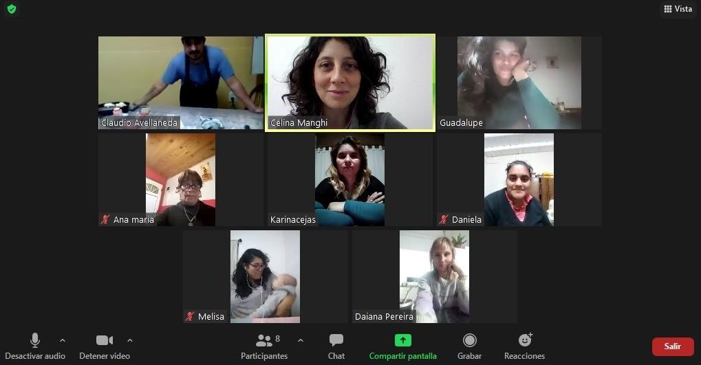 De manera virtual: Se dicta un taller de panificados para mujeres en el marco del Programa Potenciar Trabajo