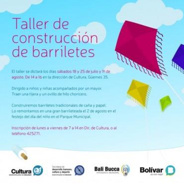 Se realizará un taller de construcción de barriletes