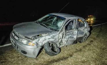 Dos autos chocaron este martes por la noche en la ruta nacional 226