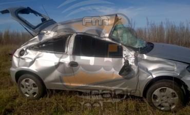 Vuelco en la Ruta provincial 65: se accidentó Adriana Loste