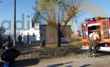 Villa Diamante: Principio de incendio en una vivienda