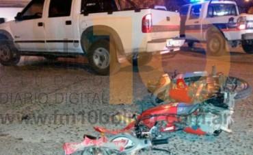 Importante colisión se registró anoche en avenida San Martín y calle Rodríguez Peña