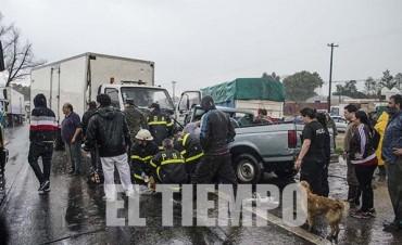 Fatal accidente en el ingreso de la ciudad de Azul