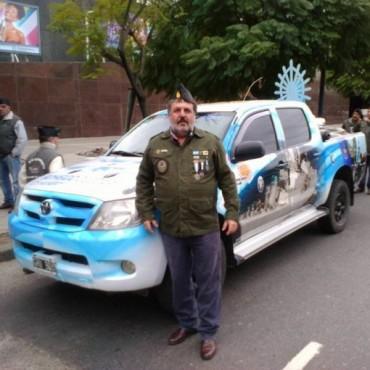 Un bolivarense excombatiente de Malvinas desfiló el pasado 10 de julio en Palermo