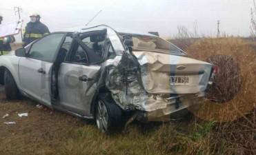 Ruta Provincial 65: Violento impacto dejó tres personas heridas
