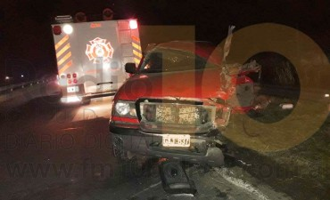 Impactante accidente sobre ruta 226: Camión vs. camioneta, tres heridos