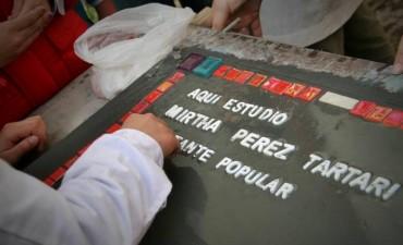 PARA VISIBILIZAR A LOS DESAPARECIDOS LOCALES: Una baldosa por la memoria de Mirta Pérez Tartari