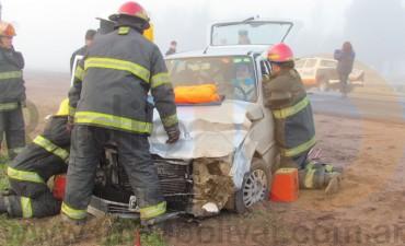 RUTA 226: Impacto entre dos automóviles a pocos kilómetros de la ciudad