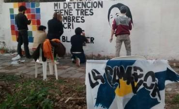 La Cámpora Bolívar realizó un mural por la liberación de Milagro Sala