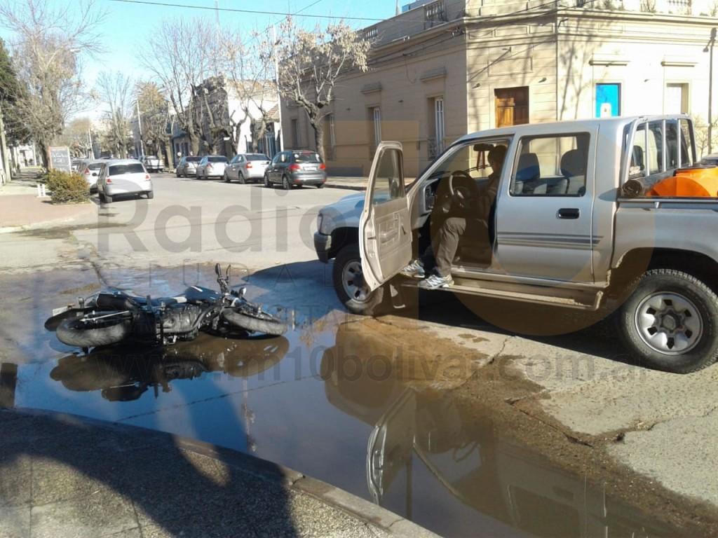 Accidente Arenales y Sarmiento: sin mayores consecuencias