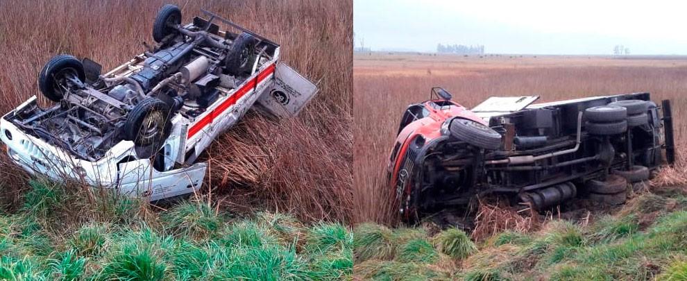 Violento impacto en Ruta Nacional 205 terminó en vuelco