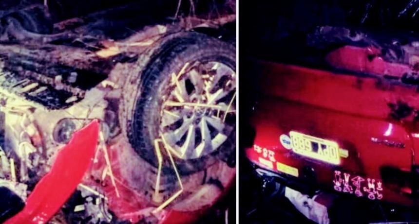 Dudignac: vuelco en la ruta 65, los 4 bolivarenses resultaron sin lesiones