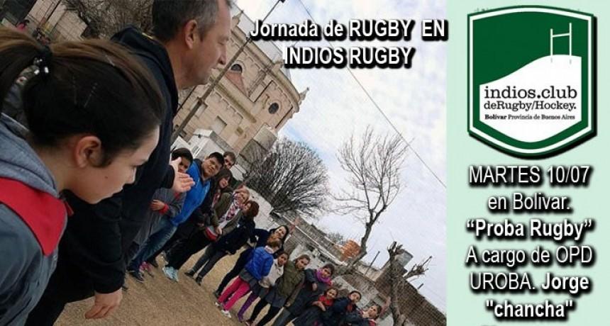 Se llevó a cabo la jornada Probá Rugby con alumnos del Instituto Jesús Sacramentado