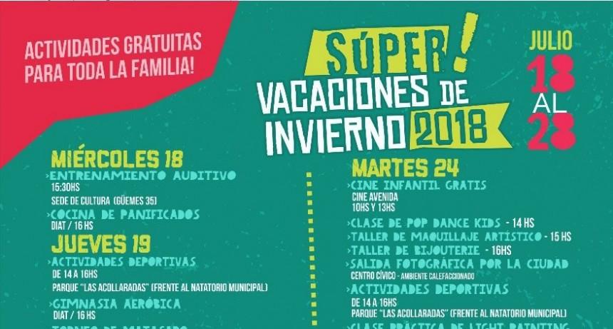 Súper Vacaciones: una propuesta variada para este invierno en Bolívar
