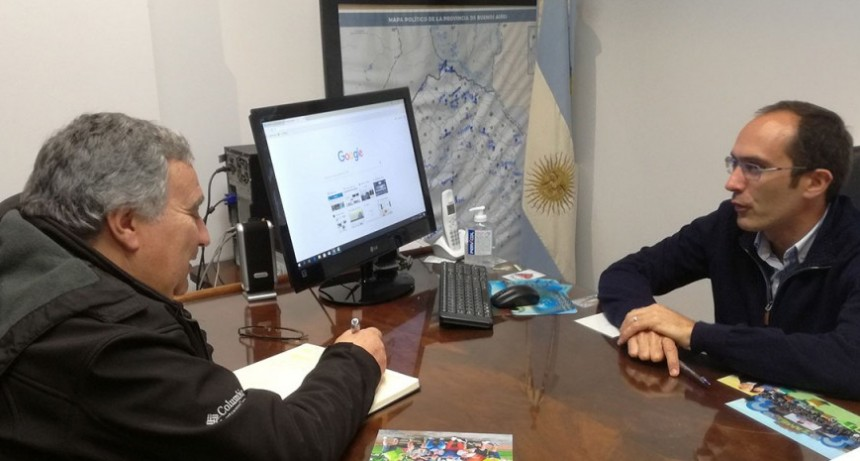 Rubén Montero se reunió con el Intendente Marcos Pisano