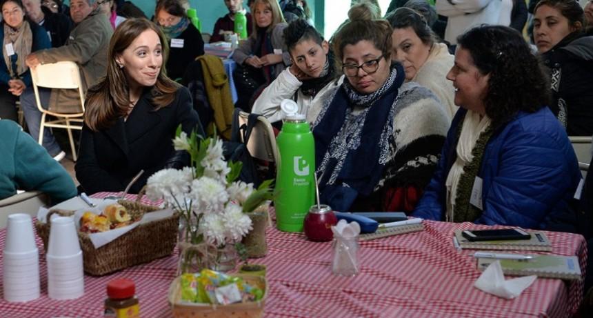 Morón: Vidal anunció una nueva línea de apoyo económico para organizaciones comunitarias