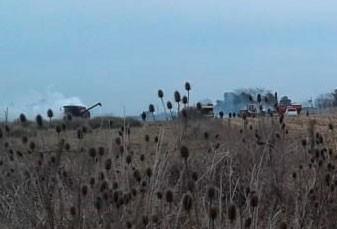 Incendio de una cosechadora