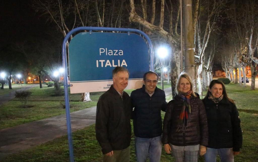 Pisano recorrió la puesta en valor de plaza Italia y España