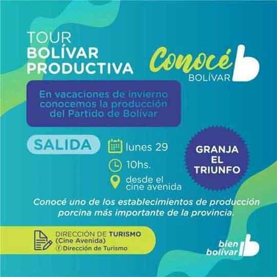 Sumate al Tour Bolívar Productiva organizado por la Municipalidad