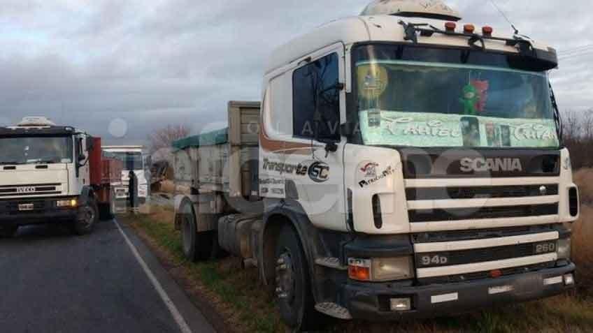 Saladillo: Un camionero de Hinojo protagonizó una colisión en la ruta 51